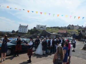 Eyemouth Herring Queen parade in St Abbs